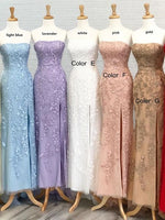 2021 Mermaid Long Prom Dresses with Appliques and Beading Fashion Formal Dress With Slit   cg15392
