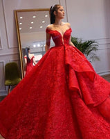 Off the Shoulder Red Prom Dresses Birthday Gown   cg15536