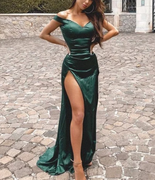 Mermaid Prom Dress For Teens, Off The Shoulder Prom Dresses, Graduation School Party Gown   cg15556