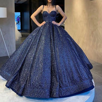 Sexy blue long ball gown Prom Dresses    cg15562