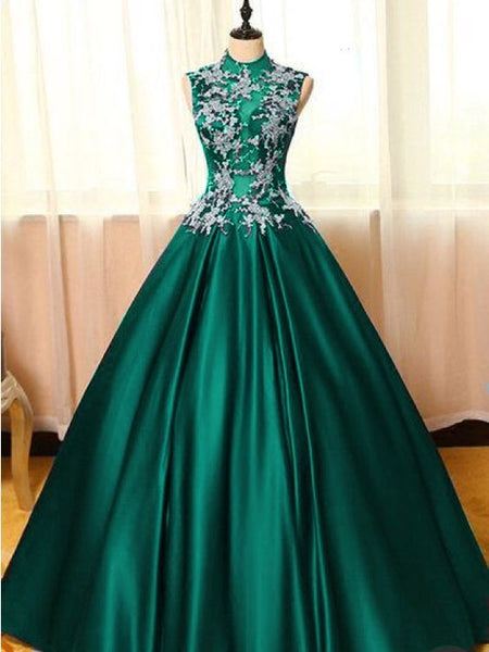 Prom Dresses Elegant Green Wedding Gowns   cg15654