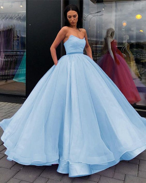 Sky blue ball gown prom dress quinceanera dress   cg15658