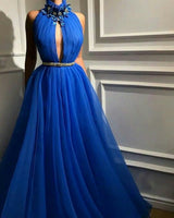 Blue Long Prom Dress Formal Evening Dresses    cg15717