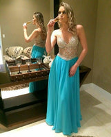 Charming A-Line Long Prom Dresses, Evening Party Dresses   cg15735