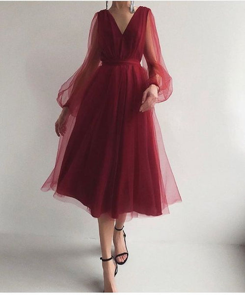 A line burgundy prom dress   cg15776