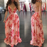 Newest Deep V-Neck A-Line Prom Dresses,Long Prom Dresses,Cheap Prom Dresses   cg15804