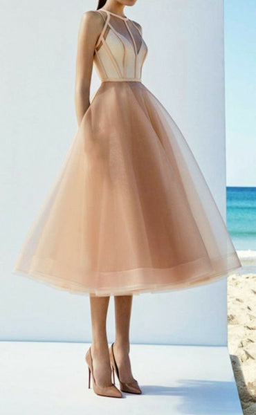 Chic tea length prom Dress cg1598