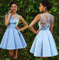 Sky Blue Homecoming Dresses,Lace Homecoming Dress,Sexy Homecoming Dresses cg160