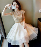 Cute tulle lace women fashion dress, homecoming dress, party dress cg1610