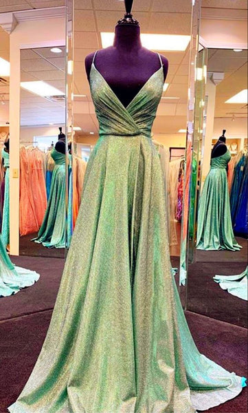 Green Sparkly Prom Dresses    cg16245