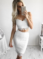 Popular Homecoming Dresses Tight Stunning Tight Halter Sheer Lace Short Party Dress cg1664