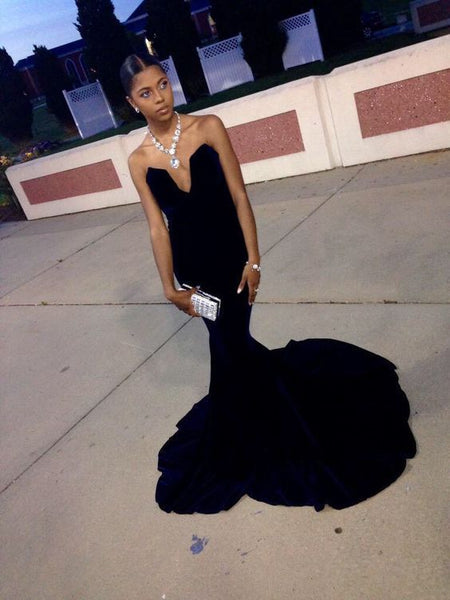 Black Prom Dress,Mermaid Prom Dress,Fashion Prom Dress   cg16929