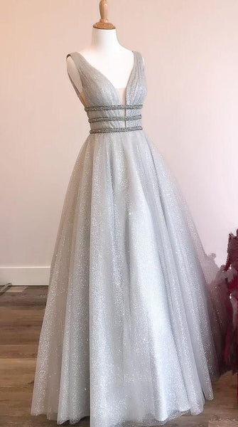princess prom dresses, A-line Grey Prom Dresses, Long Prom Dresses 2019, Sweet 16 Dresses, Graduation Dresses cg1719