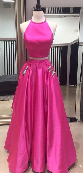 Two Pieces Prom Dresses,Simple Prom Dresses,Party Dress   cg17494