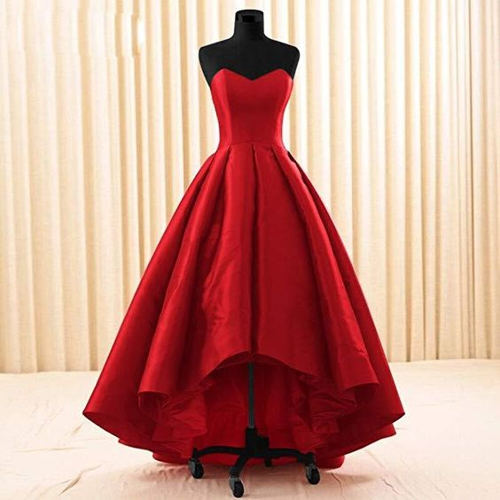 Women Sweetheart Short Front Long Back A Line High Low Prom Dress cg1752