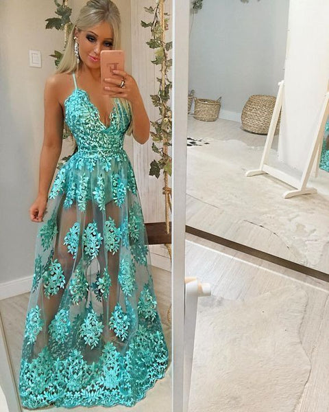 A-Line lace Prom Dress      cg17675
