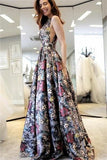 Sparkly Long Elegant Beautiful A-line Floor Length Evening Prom Dresses  cg1803