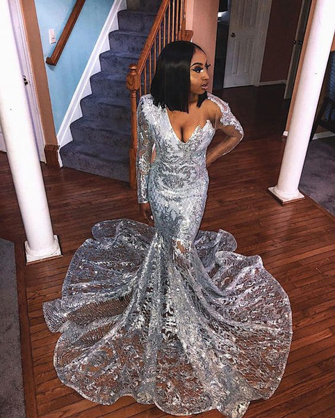 Mermaid long Prom Dress, Formal Gown    cg18244