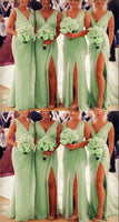 Beautiful sage green bridesmaid dresses prom gown   cg18256
