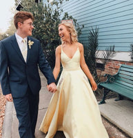 formal prom dresses, yellow prom gowns, graduation party dresses   cg18269