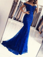 Elegant off the shoulder mermaid lace prom dresses   cg18278
