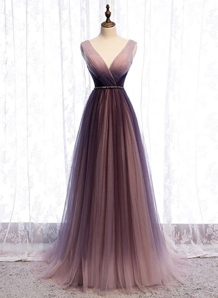 Spring Long V Neck A Line Dress Halter Beaded Evening Dress prom dresses   cg18279
