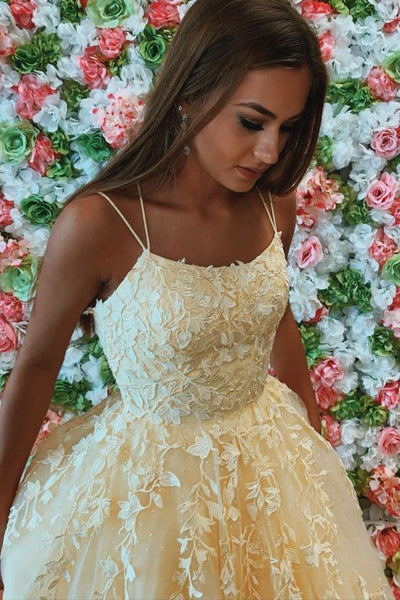 Fashion Evening Dresses Yellow Prom Gown 2021    cg18298