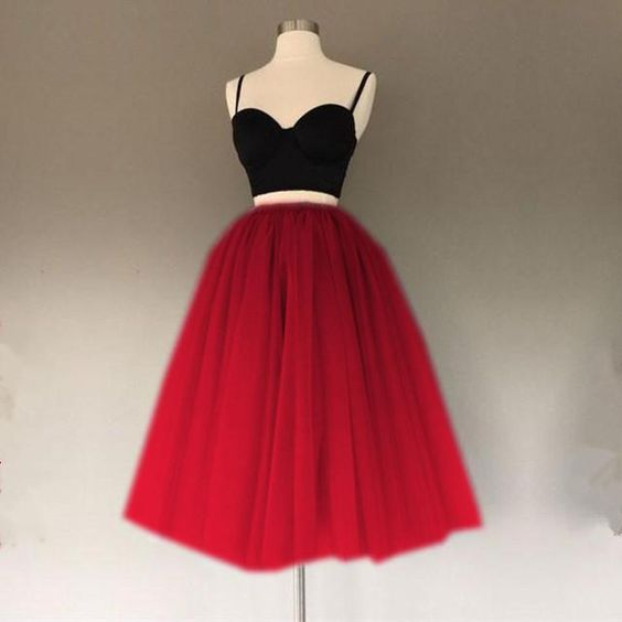 Custom Made Splendid Homecoming Dress Short A Line Two Piece Homecoming Dresses Short Tulle Gowns cg1868