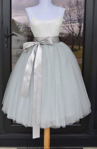 short homecoming dress ,grey homecoming dress cg1869