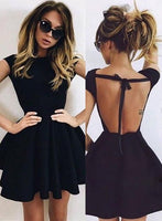 Backless Homecoming Dress,black homecoming Dress,short homecoming Dresses cg187