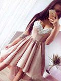 Sweetheart neck a line homecoming dress cg189