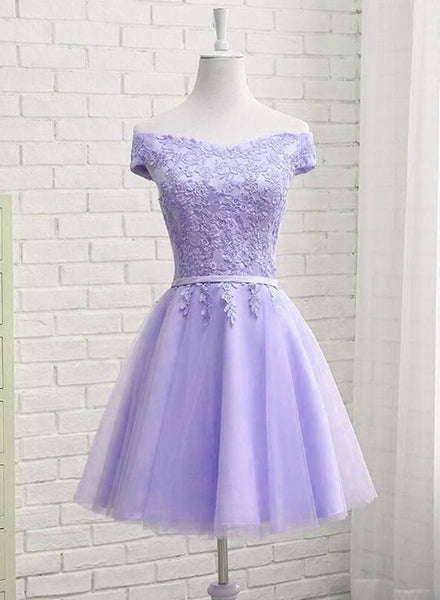 Light Purple Short New Style Homecoming Dress 2019, New Party Dress 2019 cg1921