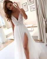 Charming Cheap Custom Long Simple wedding dress Prom Dresses    cg19291