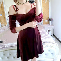 Wine Red Velvet Off Shoulder Short homecoming Dresses, Women Party Dresses, Velvet Party Dresses cg1963