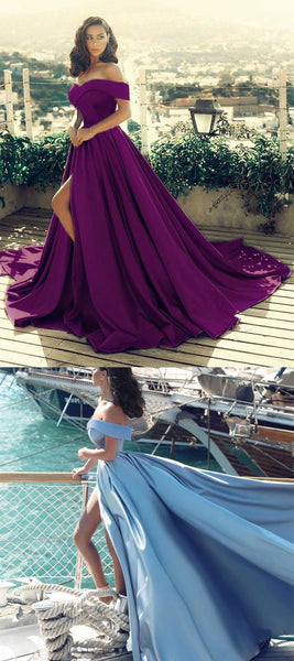 Purple Prom Long Dresses ,Satin Evening Gown,Sexy Prom Dress 2021    cg19725
