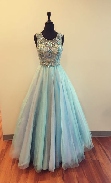 Modest Prom Dresses Tulle evening gown     cg19802