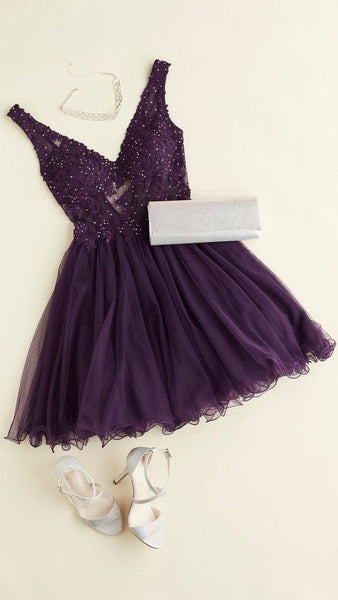Purple homecoming dress cg1985