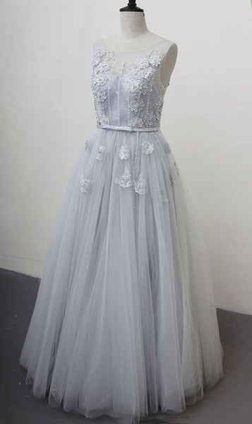 Lovely Flowers Lace Prom Dress Wedding Party Dress    cg20005