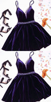 Beautiful Custom Made A-line Homecoming Dresses,Purple Homecoming Dresses cg201
