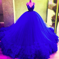 ball gown prom dresses royal blue tiered royal blue evening dresses puffy party dress     cg20166