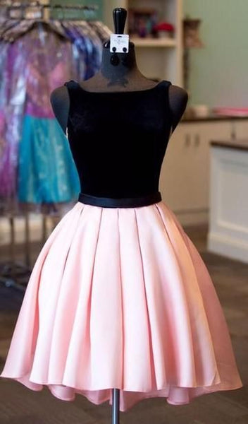 Black and Pink Short Homecoming Dress  cg2030