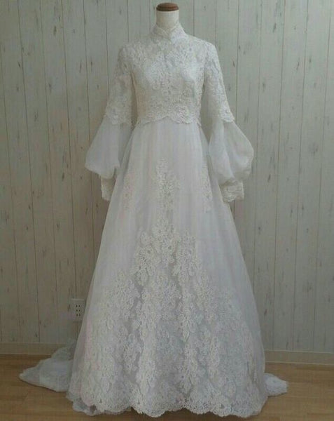 white lace prom dress , charming prom dress    cg20682