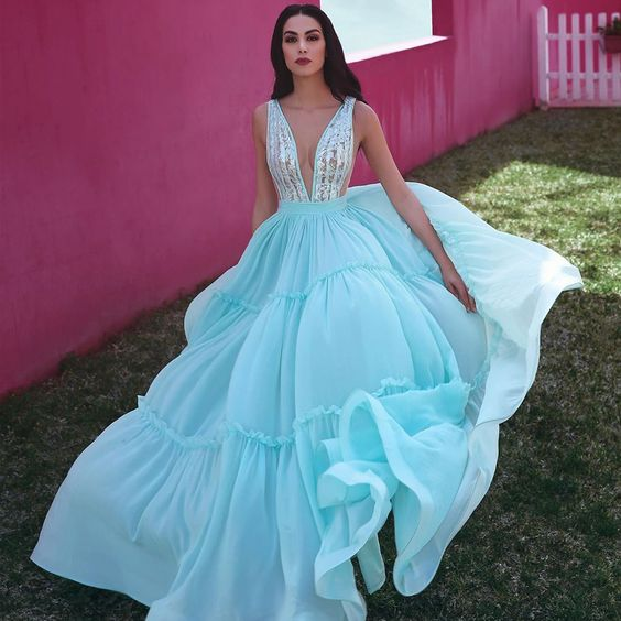 New Arrival A-line Tulle Sleeveless Lace Prom Dress    cg20780