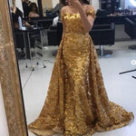 Detachable Prom Dresses, Lace Prom Dresses, Sequins Prom Dresses, Off The Shoulder Prom Dresses   cg21945