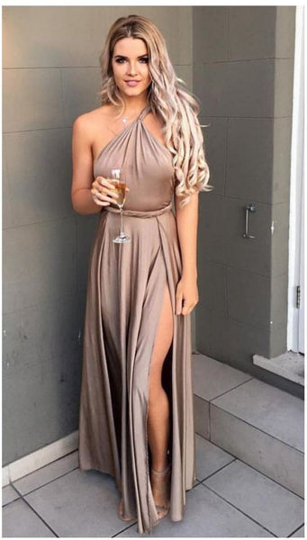 One Shoulder Prom Dress,Split Prom Dress,Fashion Prom Dress cg2198