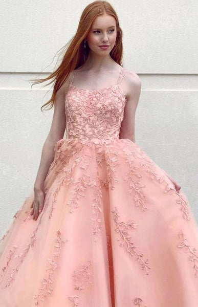 Pink prom dress, lovely prom dress, lace prom dress, prom dress for teens    cg22057