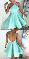 A-Line Dresses,Backless Homecoming Dresses,Short Homecoming Dresses,Mint Green Homecoming Dress cg255