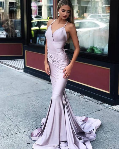 Mermaid Prom Dresses V-neck Long Prom Dress cg2614