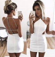 Custom Made White Mini Sheath Dress, Homecoming Dress, Formal dresses, Wedding Dresses cg267