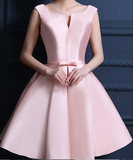 Short Pink Homecoming Dresses With Bowknot Lace Up Mini Suitable Homecoming Dresses cg297